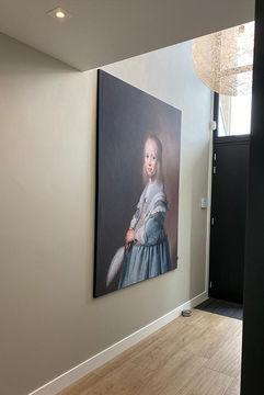 Print op doek Oude Meester portret Werk aan de Muur akoestiek