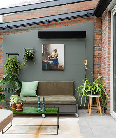 Canvas print voor buiten en tuin Werk aan de Muur