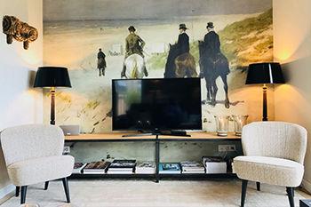 Behang schilderij Oude Meesters in de woonkamer