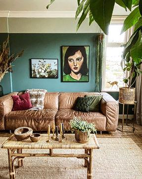 Greyed Green Flexa kunst Werk aan de Muur