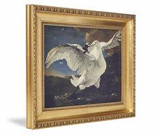 Canvas print Werk aan de Muur met gouden sierlijst