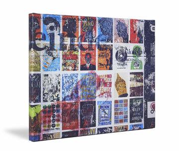 Canvas print Werk aan de Muur zijkant vervaagd