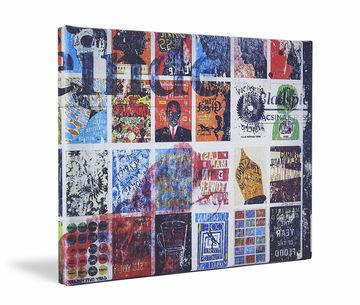 Canvas print Werk aan de Muur zijkant gevouwen