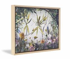 Canvas print Werk aan de Muur met naturel baklijst