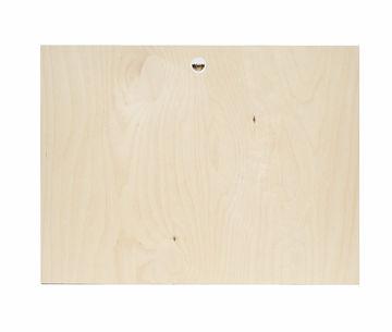 Print op hout achterkant