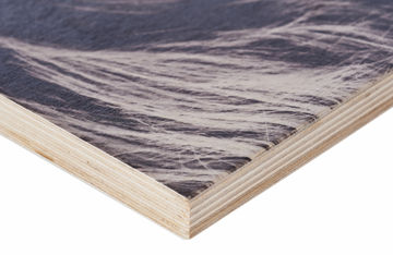 Print op hout hoek