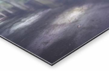 aluminium dibond print van Werk aan de Muur hoek met matte afwerking