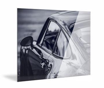 aluminium dibond print van Werk aan de Muur zijkant met glanzende afwerking