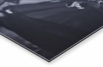 aluminium dibond print van Werk aan de Muur hoek met glanzende afwerking