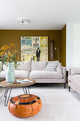 Muurdecoratie woonkamer muur canvas Werk aan de Muur gezien bij vtwonen