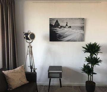 Zwart witte foto op aluminium dibond