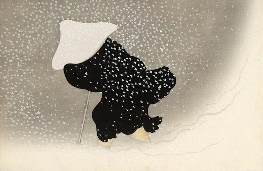 Aziatische kunst woodblock Japans Werk aan de Muur