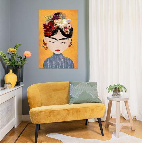 Poster van Frida illustratie Werk aan de Muur