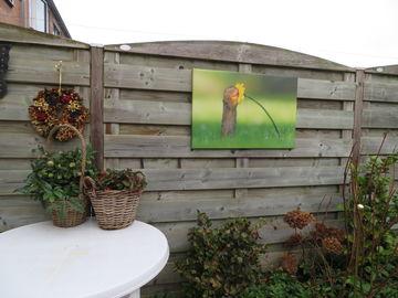 Buiten canvas Werk aan de Muur met dieren