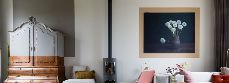 Modern stilleven woonkamer Werk aan de Muur