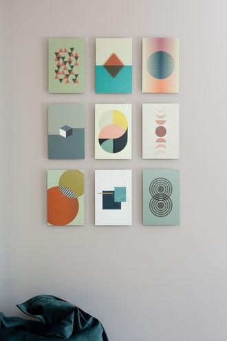 Moderne vormen en lijnen kunst van vtwonen