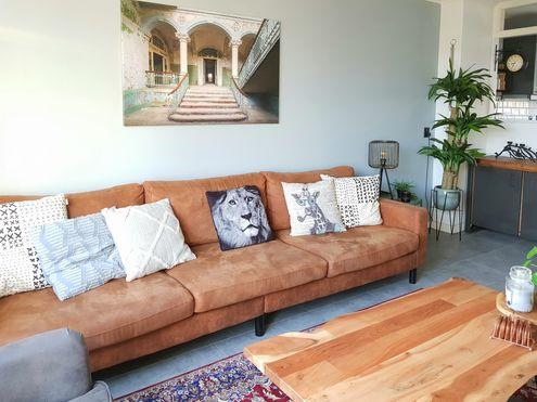Verlaten plekken fotokunst in de woonkamer industrieel interieur