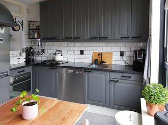 Frisse houten keuken