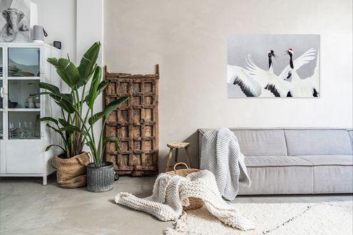 Vogels kunstwerk woonkamer Werk aan de Muur