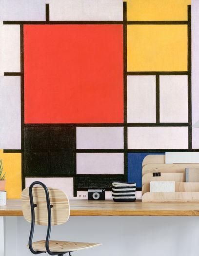 Werk Aan De Muur Mondiraan Behang 311552 Piet Mondriaan Composition En Rouge Jaune Bleu Et Noir Oude Meesters Collectie