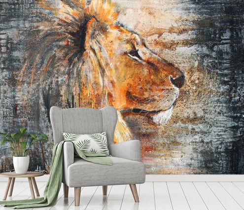 Werk Aan De Muur Leeuw Behang 547558 Lion Night Atelier Paint Ing