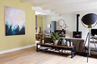Abstract Schilderij canvas met baklijst gezien bij vtwonen Weer verliefd op je Huis
