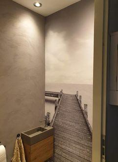 naadloos foto behang Werk aan de Muur wc