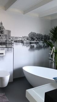 Naadloos behang badkamer vochtbestendig Werk aan de Muur