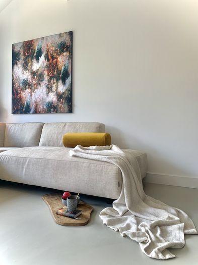 Abstracte kunst van Lars van Goor print op doek Werk aan de Muur