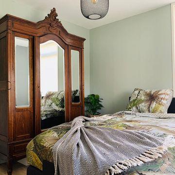 Vintage interieur slaapkamer Werk aan de Muur
