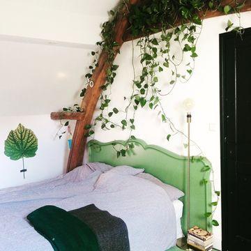 Groen wonen slaapkamer Werk aan de Muur