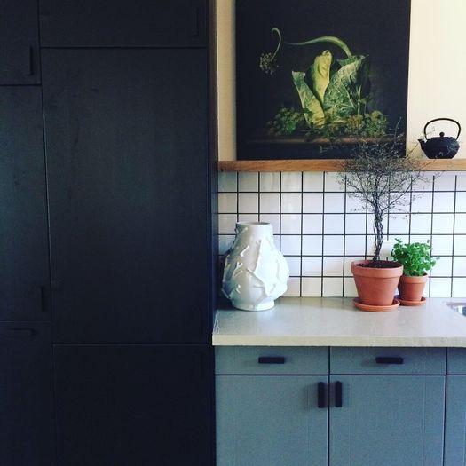 werk aan de muur kunstwerk keuken landelijk woonstijl
