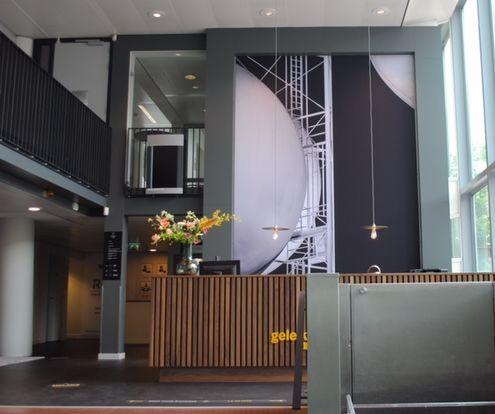 Grote wanddecoratie print op doek Werk aan de Muur bedrijfshal