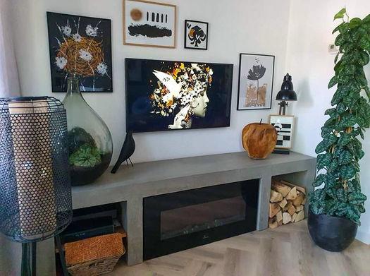 Gallerywand tv hoek Werk aan de Muur