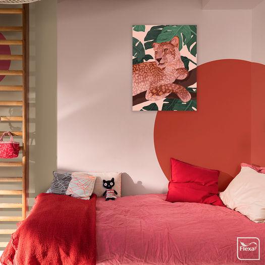 Flexa Werkaandemuur 636312 Roze Panter Goed Blauw