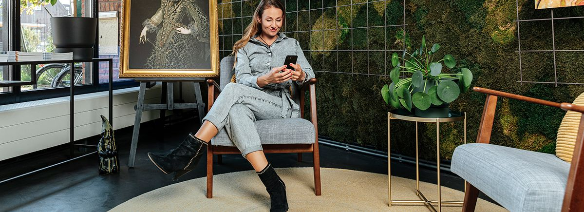 Stylist Eva gebruikt Werk aan de Muur app