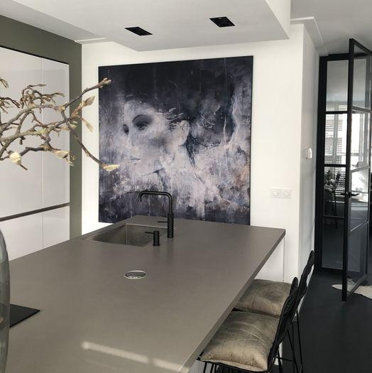 Kunstwerk Helene schilderij vrouw keuken Werk aan de Muur