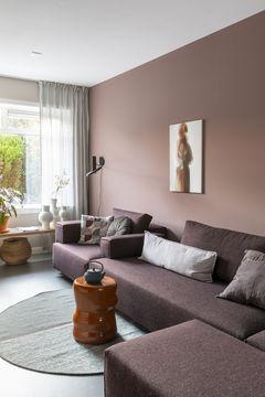 abstracte kunst Werk aan de Muur vtwonen woonkamer