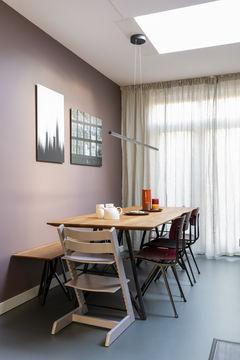 abstracte kunst Werk aan de Muur vtwonen eettafel