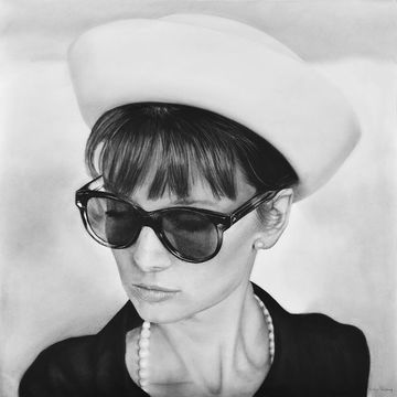 Audrey hepburn and hat by mvvr dasok17