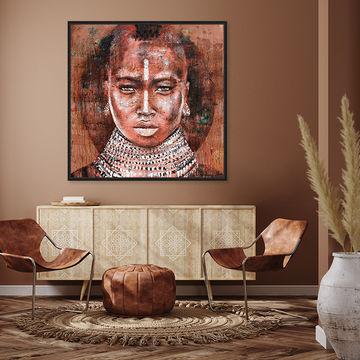 Werkaande Muur 649248 Tribal woman Atelier Paint Ing2 copy