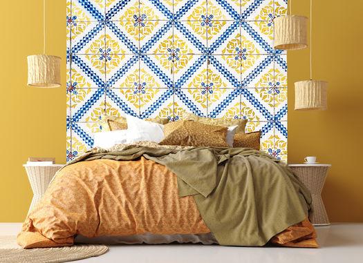 Slaapkamer Behang Gele Tegels Van Lissabon Copy
