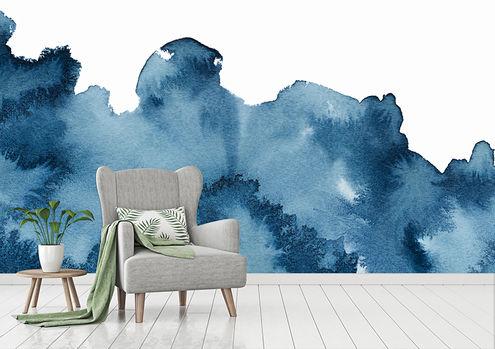 Behang Aquarel tekening