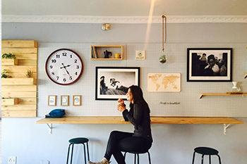 Koffietentje wanddecoratie Werk aan de Muur
