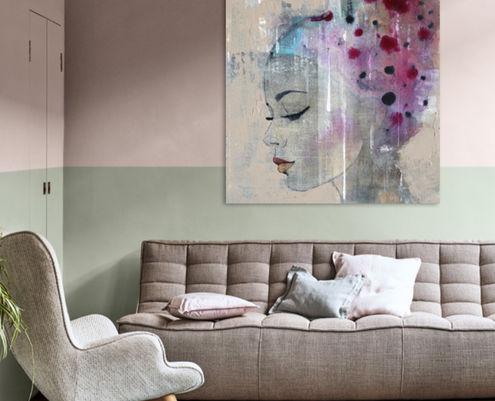 Kleur van het jaar Tranquil Dawn kunst Werk aan de Muur