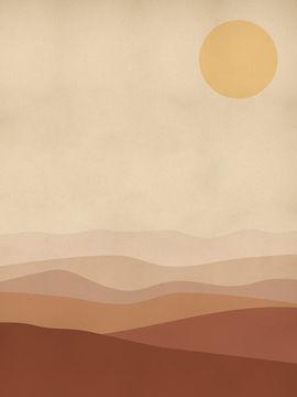 Art abstrait Warm Glow - OhMyPrints