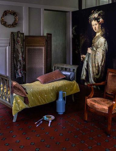 Muurdecoratie slaapkamer Werk aan de Muur met Oude Meester
