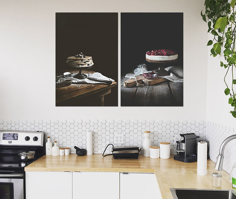 Food prints in de keuken
