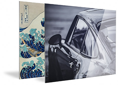 Fine-art prints gelijmd op aluminium panelen